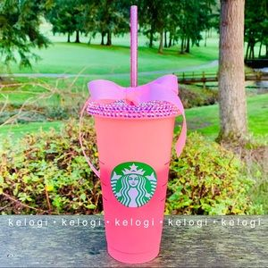 💕NEW💕Starbucks Pink Color Changing Bling Cup